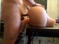 Horny white pussy fuck 4 asian cock!