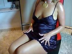 Very classy bitch in beuty youn satin dress