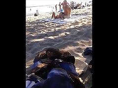 asian nudist exhibitionist on oka&039;s nude beach