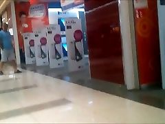 Teen pilar bien montada cheeks in tiny shorts in shopping mall