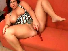 Horny BBW Teen ex GF spreading and masturbating