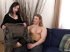 First time gay sex with muscle man