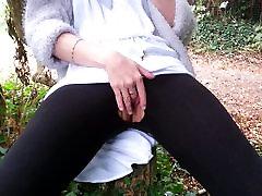 Fingering my pussy in public