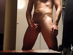 Huge cumshot on big tits
