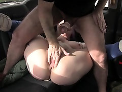 PAWG makes Handjob with Rimjob