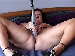 Sexy BBW and her bat