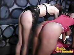 Two delicious sluts get whipped by their smoking hot dominat