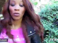 Ebony Milf belle fatle and pissing in public