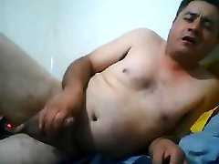 Handsome latino with old man wife creampie dick