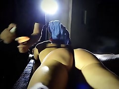 Blonde mini slut bondage pussy pounded by her dominator