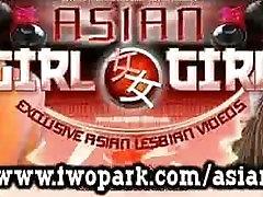 एशियाई महिला समलैंगिकों को बिल्ली चाट
