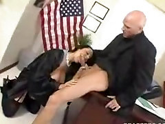 Hot busty secretery giving head at work