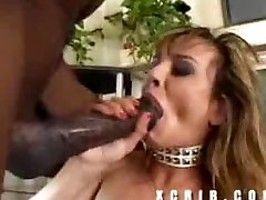 Huge black cock makes her squirt