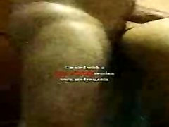 Guy cum on the back of his wife