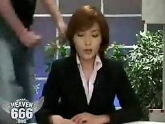 Bukkake on the news lady