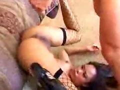 Pounding her deep in her asian ass