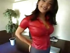 Busty Asian Teen In Red Gets Boobs Groped