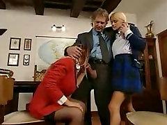 Italian schoolgirl anal lesson