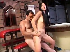 Asian slut rides it deep up her ass