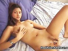 Teen fetish douche shoves a huge dildo into her part1