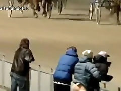 WTF Norweigan Gay Couple Caught Having long cock man girls fuck At A Horse Race !