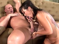 Asian redlight india licks and slides her fingers inside white guys tight asshole