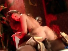 Cock sucking white girl gets a load in the mouth from zaya khus dick after fucking