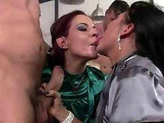Horny sluts get really naughty in this steamy orgy