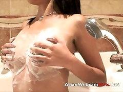 Asiancamslive.com model in shower soapland fun baise public black webcam
