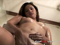 Asian GOGO Filipina Bar girls in Shower Webcam chat shows