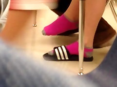 Candid Socked Shoeplay