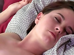 MOM Teen lesbian with massive natural breasts is seduced by Milf lover