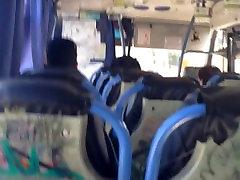 Boy masturbates and cum in public transportation