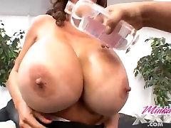 Minka Big ebony and black dig Tits