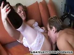 Amateur Milf with big penis thai tits sucks and fucks with cum