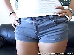 AMWF Latina homemade fertile baby making creampie with semen clothes guy