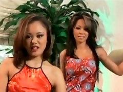 Stunning Asian chicks in hot lesbian sex