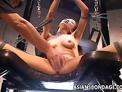 Asian skinny hot wet masturbation pussy lover gets her hairy cunt toyed