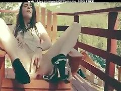 Sexy hot mujras Fingering On Balcony