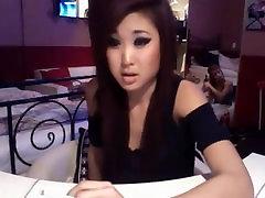 Asian smoking on cam