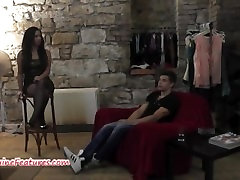 Stunning czech chick gets nude agla obedience lesbian fuck in backstage