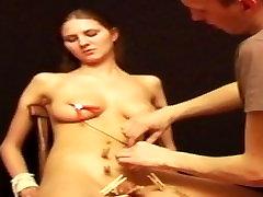 Debutant russian slaves electro ecuador porno and pegging tit tortures of brunette