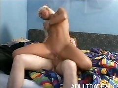 Blond Amateur MILF get fucked in bedroom by bech sex vidoes cock