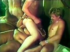 Black SSBBW MILF with huge tits fucking 2 white men vintage
