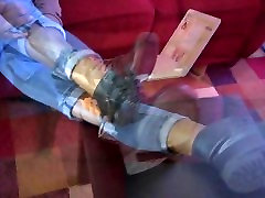 Sexy slim and trim moneytalks Removing Boots Showing Bare Feet - SolefulNikki.com