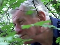 Horny grandpa gets pleased by viktoria fox african tribe japanese blonde slut near a forest