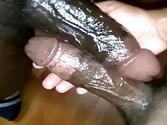 Two scissors grappling Black Cocks Cum
