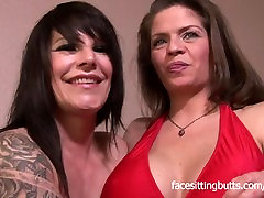 Big tit babes June and Daisy lick each others pussy