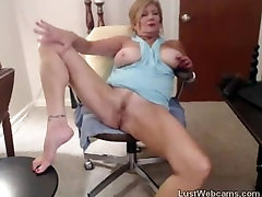 Blonde anabela flovers fucks her pussy and ass with dildo on webcam