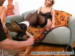 Amateur dillion harper femdom toys and strokes a dick with cum on tits